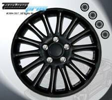 "Wheel Rims Skin Cover 15"" Inch Matte Black Hubcap -Style 007 15 Inches Qty 4pcs-"