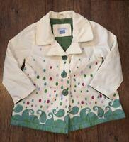 CREAM GREEN RAINCOAT 12-18M BABY GIRL JOHN LEWIS SUMMER PARTY TOWIE CELEB PRETTY