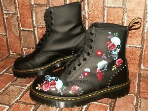 Dr. Martens 1460 PASCAL BEX ROSE fantasy leather boots uk 8 eu 42 us 10 Doc#491
