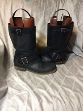 AMERICAN EAGLE AE Riding BOOTS LEATHER WOMENS 10 MENS 8 Harness Buckle Pull On
