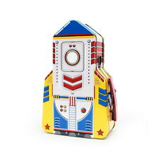 Suck UK Rocket Lunch Box Brotdose Blech Essen Rakete Space Metall Dose Lunchbox
