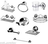 Non Rust STRONG Suction Stainless Steel Shower Soap DishCaddy Towel Toilet Rail