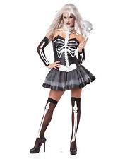 Skeleton Masquerade Gothic Adult Womens Halloween Costume - XS