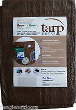 NEW Kotap 6' X 8' Reversible Brown/Green Waterproof Poly Tarp UV Resistant
