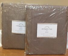 "NEW 2PC Pottery Barn Silk Dupioni Drape 50"" x 84"" BROWNSTONE"