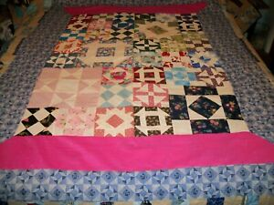 machine sewn spool quilt top