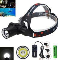 Underwater 100m 6000Lm XM-L T6 LED Diving Head Light Torch Headlamp Flashlight