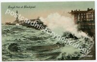 Rough Sea at Blackpool Postcard, Trichromatic, Welch & Sons