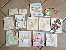 Bulk Lot  Vintage 1950/60's  Greeting Cards - LARGE LOT #1 -- POST $10.00