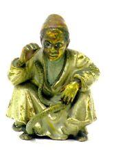 Wiener Bronze Arabische Knabe mit Schlange Schlangenbeschwörer Vienna 19. Jh.