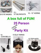 New Years Eve ULTIMATE Sterling Silver Party Kit for 25 People 1-4A