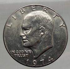 1974 President Eisenhower Apollo 11 Moon Landing Dollar USA Coin Denver  i46182