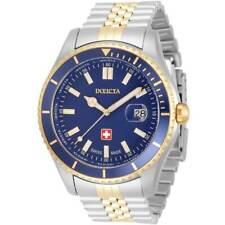 Invicta Men's Watch Pro Diver Swiss Quartz Blue Dial Two Tone Bracelet 33442