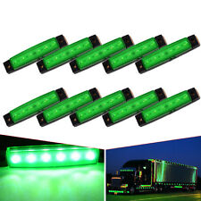 10X Green 6-LED Clearance Side Marker Trailer Light Van Waterproof Sealed 12V US