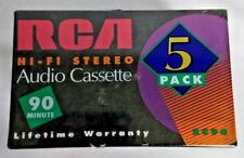 Cassette Tapes 5 Pack Rca HiFi Stero 90 Min Audio Rc90 New Normal Bias
