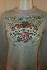 Woman's Harley Davidson  Long Sleeve T-Shirt Size Small      *B
