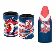 SET OF 2 SYDNEY ROOSTERS NRL LONG NECK TALLIE BEER COOLER + STUBBY HOLDER