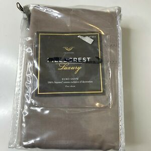 fieldcrest luxury euro sham NWTs color brown one sham 100% supima cotton