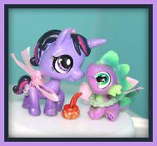 ❤OOAK Littlest Pet Shop LPS MLP Twilight Sparkle & Spike Custom Lot SET Repaint❤