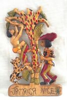 Hand Carved Wood Wall Sculpture, Jamaican Folk/Tourist Art - JAMAICA NICE