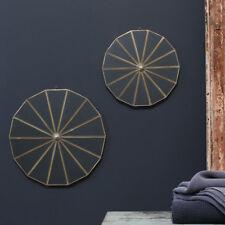 Large Kiko Decorative Round Brass Mirror Nkuku 43cm, Hanging Wall Mounted Medium