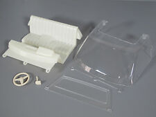 Tamiya 1/10 RC Toyota Hilux Bruiser TF Interio Seat Steering Wheel Clear Window