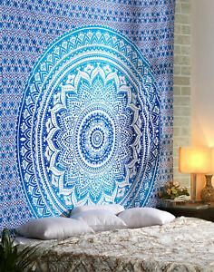 Décor Handmade Hippie Mandala Tapestry Wall Hanging Bohemian-Bedspread Throw