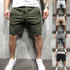 Mens Cargo Shorts Pants Casual Summer Beach Sport Gym Trousers Plain Elastic US