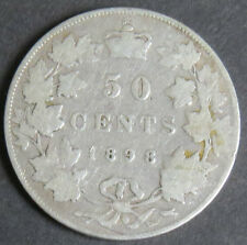 CANADA 1898H  50 CENTS QUEEN VICTORIA  SEE PICTURES