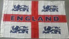 Job 5' X 3' FT England St George Cross Four Lions Flag Flags