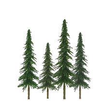 "JTT SCENERY 92025 SUPER SCENIC SPRUCE TREES 1"" to 2""  Z-SCALE 55/PK  JTT92025"