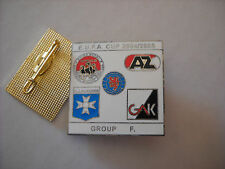 a1 AMICA AUXERRE AZ ALKMAAR GLASGOW RANGERS GRAZER league 2005 football pins