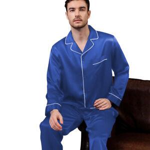 Mens Silk Satin  Pajamas -PJ Set  Top and Bottom ''5 DAY DELIVERY - USA Seller''
