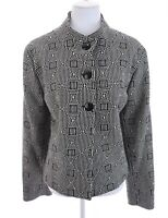 NWT Austin Reed Wool Geometric Blazer Jacket Black Off White Womens Plus Sz 16W