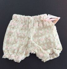 Adorable  Custom Bloomer Diaper Cover Pink And Green Chenille NWT 2-6 Mo