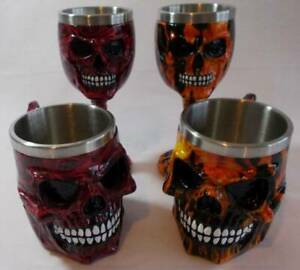 Goblets & Tankards by Nemesis Now.Romance~Inferno.Horror Ornament