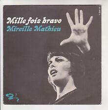 """Mireille MATHIEU Vinyle 45 tours 7"""" SP MILLE FOIS BRAVO -BARCLAY 61505 SP + RARE"""