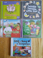 THIS LITTLE PIGGY - SING A SONG - NURSERY RHYMES -.  5 CHILDRENS AUDIO CD'S