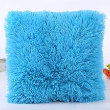 Winter Warm Fur Plush Throw Pillow Cases Sofa Waist Cushion Covers Home Decor