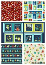 Monster Lab by Studio-e, 100% Cotton, Fat Quarters or Metres and DIY Book Panel