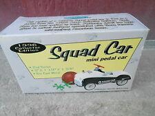 "NRFB Vintage 1996 XONEX ""SQUAD CAR"" Mini Pedal Car in Original Box  (NBS6)"