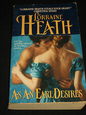 msm* SALE : LORRAINE HEATH ~ AS AN EARL DESIRES