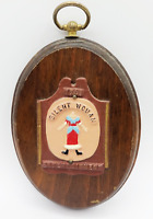 Vintage Silent Woman Entertainment 1761 Wooden Wall Hanging Wood Sign Plaque
