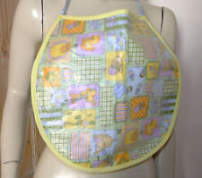 Adult Size Bib PVC Plastic Roleplay Sissy Nursery Print  Protective Med Size
