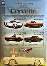DOMINICA 2003 Klb 3462-64 Block 485 50th Ann Chevrolet Corvette Cars Auts MNH