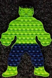 Hulk Push it Bubble Pop Fidget Sensory Toy ADHD Stress Reliever Autism Toys