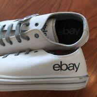 eBay Logo Branded Sneakers NWT eBayana Swag Mens Size 14? White Gray