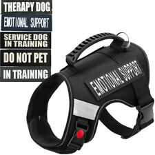 Service Dog Vest Jacket For Training Reflective Harness W/ Handle Therapy Dog XL