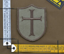 "Ricamata / Embroidered Patch ""Crusader"" Coyote Tan with VELCRO® brand hook"
