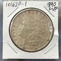 1890 Morgan Silver Dollar $1 90% US Collectible Coin F-VF #101620-1